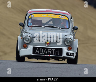 Fiat Abarth 1000TCR, Historic Abarth Demonstration, Special Italian Car demo, Festival Italia, Brands Hatch, Kent, England, August 19th, 2018. - Stock Photo