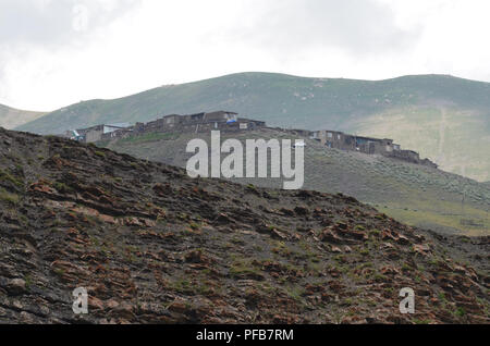 Xinaliq, Azerbaijan, a remote mountain village in the Greater Caucasus range - Stock Photo
