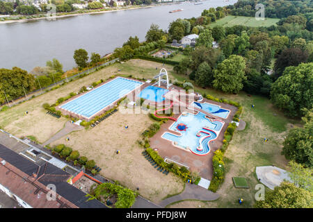 aerial view open air swimming area at tenderingssee lake voerde stock photo 60257293 alamy. Black Bedroom Furniture Sets. Home Design Ideas