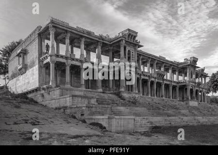 Ahmedabad,Gujarat,India, December 08,2014 Full View Of Sarkhej Roza - Stock Photo