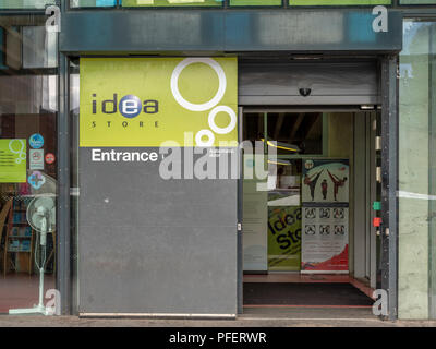 Entrance to the Idea Store Whitechapel, a local library, architected by David Adjaye in 2005 - Stock Photo