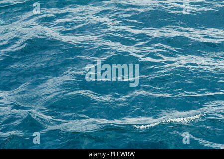 Low view on sea waves. Water background. - Stock Photo