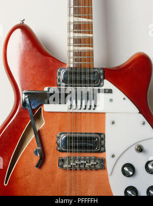 Rickenbacker 366-12, convertible, six- or twelve-string guitar, 1968, close-up Stock Photo