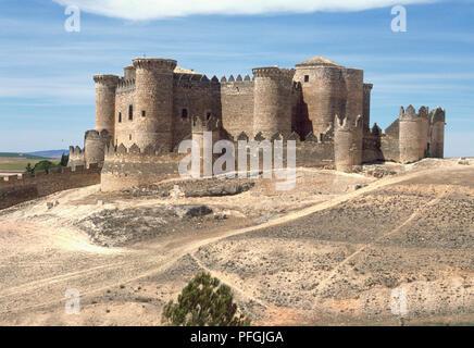Spain, Cuenca, Belmonte, Castillo de Belmonte, 15th-16th centuries - Stock Photo
