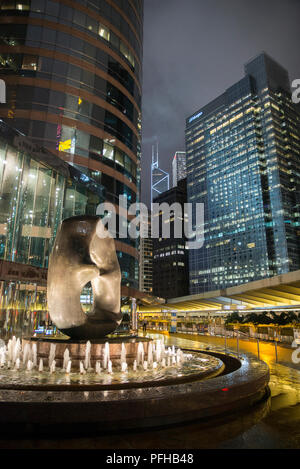 Skyscrapers in Central District, Hong Kong, China - Stock Photo
