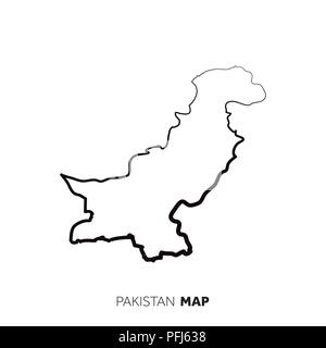 Stylized vector Pakistan map  Infographic 3d gold map