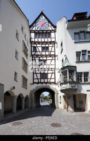 Old clock tower in Stein am Rhein, Switzerland. - Stock Photo
