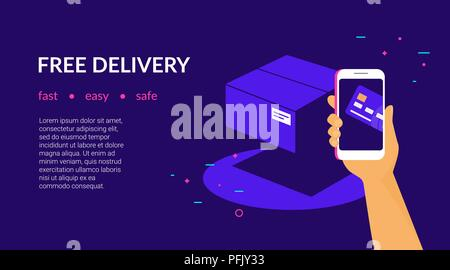 Free Delivery For Clients How Pay By Credit Card Via Mobile App