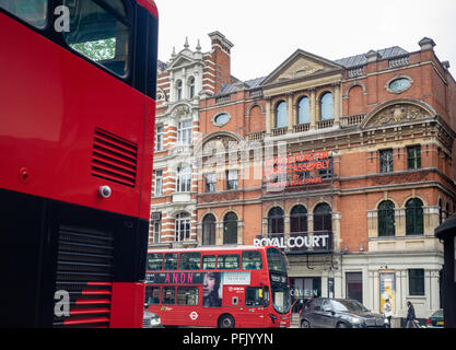 The Royal Court Theatre, Sloane Square, Chelsea, Royal Borough of Kensington and Chelsea, Greater London, England, United Kingdom, - Stock Photo