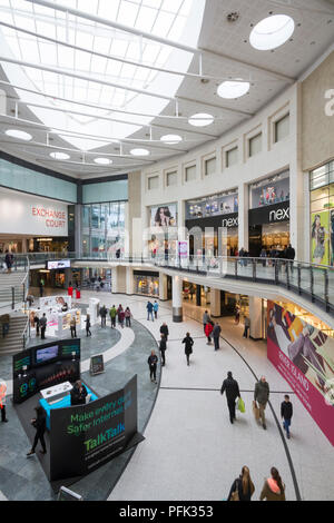 Inside the Manchester Arndale Shopping Centre in Manchester, England. - Stock Photo