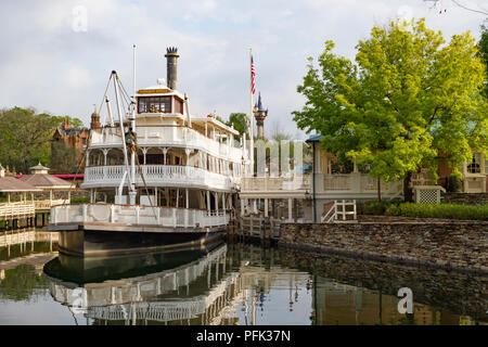 Liberty Belle River Boat in Liberty Square, Magic Kingdom, Walt Disney World, Orlando, Florida. - Stock Photo