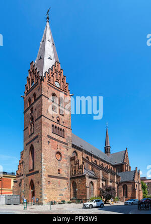 St Peter's Church (Sankt Petri Kyrka) in the Old Town (Gamla Staden), Malmo, Scania, Sweden - Stock Photo