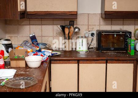 Dirty kitchen - Stock Photo