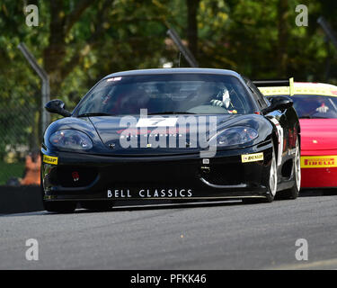 Matt Wilton, Ferrari 360 Challenge, Ferrari Club Racing, Festival Italia, Brands Hatch, Fawkham, Kent, England, Sunday 19th August, 2018, 2018, August - Stock Photo