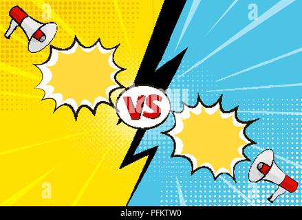 Versus letters figh background in pop art style - Stock Photo