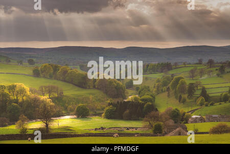 The River Wharfe near Hebden, North Yorkshire - Stock Photo