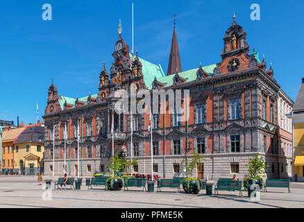 Malmö, Sweden. The Town Hal (Rådhus) on Stortorget in the Old Town (Gamla Staden), Malmo, Scania, Sweden - Stock Photo