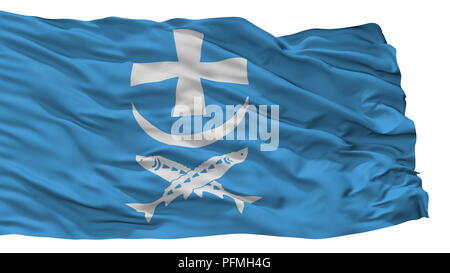 Azov City Flag, Russia, Isolated On White Background - Stock Photo