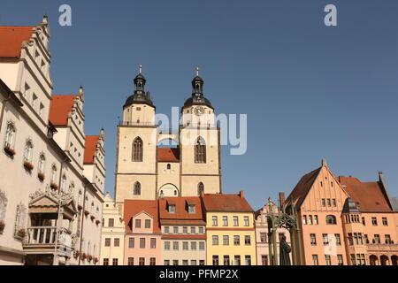 Blick auf die Altstadt von Lutherstadt-Wittenberg - Stock Photo