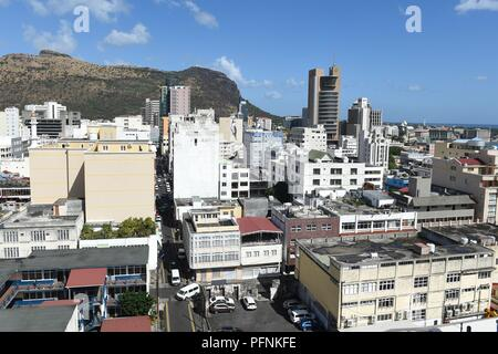 Port Louis, Mauritius. 05th July, 2018. 05.07.2018, Mauritius, Port Louis: View over the capital. Credit: Sebastian Kahnert/dpa-Zentralbild/ZB | usage worldwide/dpa/Alamy Live News - Stock Photo