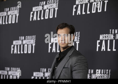 Washington, District of Columbia, USA. 22nd July, 2018. Actor Henry Cavill on the red carpet prior to a screening of Mission Impossible Fallout a the Smithsonian National Air and Space Museum on July 22, in Washington, DC. Credit: Alex Edelman/ZUMA Wire/Alamy Live News - Stock Photo