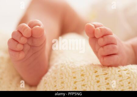 Close-up on baby's feet - Stock Photo