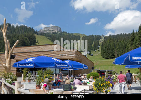 valley station of the cable car, Hoher Ifen near Hirschegg,  little Walser valley, Austria - Stock Photo