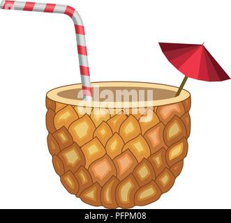 fresh drink pineapple cocktail - Stock Photo