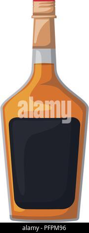 alcoholic beverage bottle icon - Stock Photo