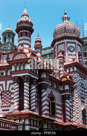Sri Lanka, Western Province, Colombo, Pettah, Jami-ul-alfar Mosque - Stock Photo