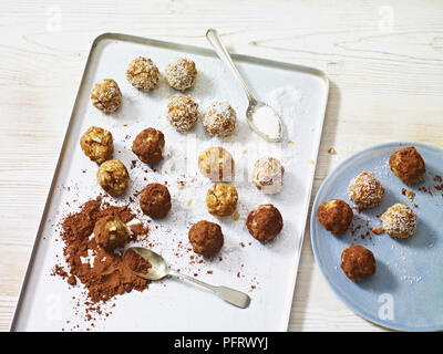 Almond and apricot energy balls - Stock Photo
