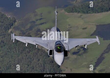 SAAB JAS-39C 39220 OF F7 WING SWEDISH AIR FORCE. - Stock Photo