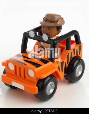Orange jeep truck - Stock Photo