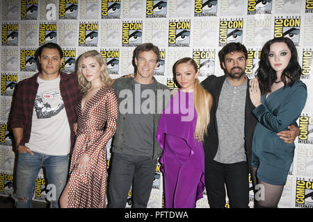 2018 San Diego Comic Con - The Gifted - Photocall  Featuring: Blair Redford, Skyler Samuels, Stephen Moyer, Natalie Alyn Lind, Sean Teale, Emma Dumont Where: San Diego, California, United States When: 21 Jul 2018 Credit: Tony Forte/WENN - Stock Photo
