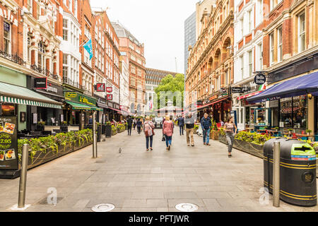 A typical view in central London uk - Stock Photo