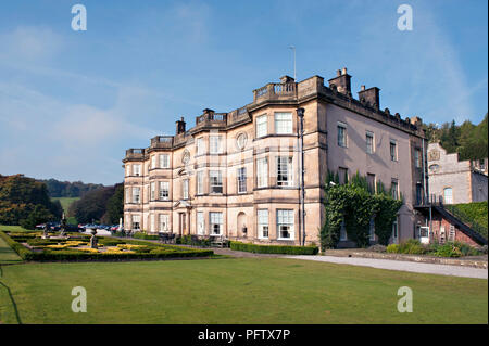 The Hassop Hall Hotel in the picturesque village of Hassop near Bakewell in the heart of the Peak District, Derbyshire UK - Stock Photo