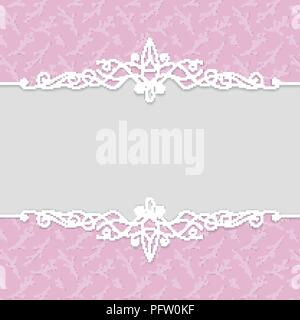 Vector delicate frame in pink colors for wedding invitations, greeting cards, greeting cards, photo frames, certificates, labels. Luxury background wi - Stock Photo
