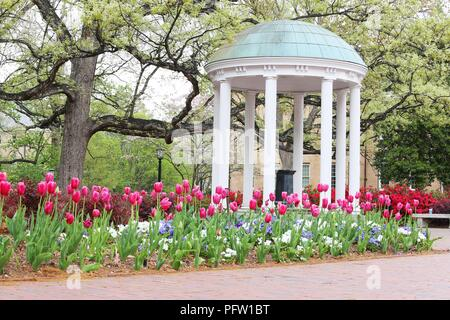 The old well, Historical landmark in Chapel Hill, North Carolina - Stock Photo