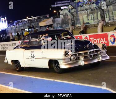 Jukka Huhta, Cadillac Series 61, Plateau 2, Grid 2, 1949 - 1956, Le Mans Classic 2018, July 2018, Le Mans, France, circuit racing, Classic, classic ca - Stock Photo