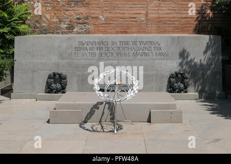 Monument to the Unknown Soldier outside Church of St Sophia, Sofia Bulgaria, Europe - Stock Photo