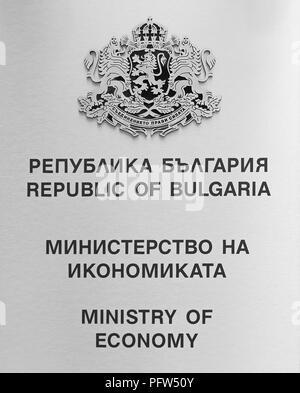 Republic of Bulgaria Ministry of Economy, Sofia - Stock Photo