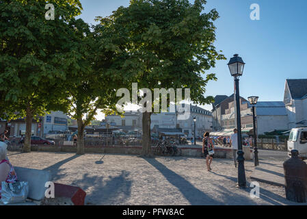 Le Crotoy, Picardie on a summer evening. - Stock Photo