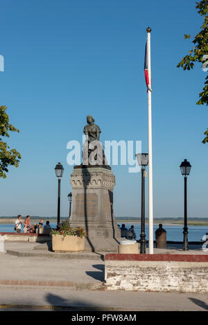 Statue of Joan of Arc in the seaside resort of Le Crotoy, Picardie - Stock Photo