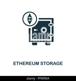 Ethereum Storage icon. Monochrome style design from crypto currency collection. UI. Pixel perfect simple pictogram ethereum storage icon. Web design,  - Stock Photo