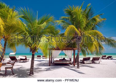 Holbox island : on the beach (Mexico) - Stock Photo
