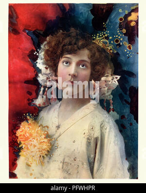 Edwardian actress Florence Collingbourne in San Toy - Stock Photo