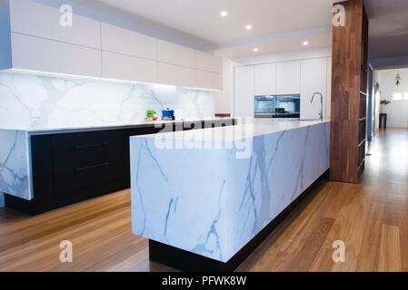 Super Calacatta Marble Kitchen Bench Tops And Splash Back In Machost Co Dining Chair Design Ideas Machostcouk