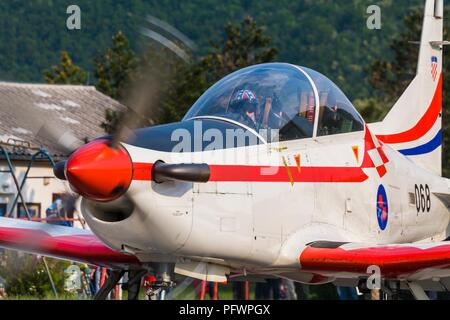 Krila oluje aerobatic group from Croatia Pilatus PC-9M PC9M PC9 2006 Grobnik near Rijeka - Stock Photo