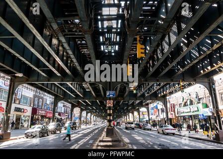 15-03-16 New York, USA. Coney Island. Under the Q line metro tracks. Photo: © Simon Grosset - Stock Photo