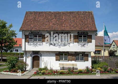 Gartenhaus (detached house), Isny, Allgaeu, Baden-Wuerttemberg, Germany - Stock Photo